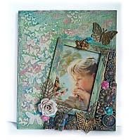 Детская фоторамка для девочки ′Фея волшебного леса′. Декор  детской комнаты. Ручная работа