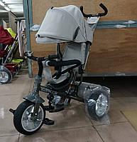 Велосипед трехколесный TILLY Trike T-371 BEIGE на бескамерном колесе