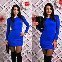 Женское облегающее платье мини в разных цветах