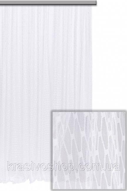 Тюль  Луи 1013, мелкая  сеточка белая , гипюр с узором, Турция,  2.80м - КРАСОТА И УЮТ в Одессе