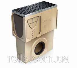 Пескоуловитель с выпуском DN200 кромка оцинкованная для канала ACO Multiline V 200
