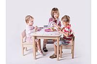 Детская стол-парта для рисования (от 1 до 6 лет, 60*60*52 cм) ТМ Вальтер-С Светлый SP1.37