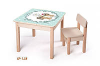 Детская стол-парта для рисования (от 1 до 6 лет, 60*60*52 cм) ТМ Вальтер-С Светлый SP1.38
