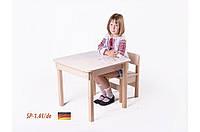 Детская стол-парта для рисования (от 1 до 6 лет, 60*60*52 cм) ТМ Вальтер-С Светлый SP1.41/ de