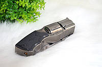 Зажигалка-револьвер с ножом.