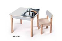 Детская стол-парта для рисования (от 1 до 6 лет, 60*60*52 cм) ТМ Вальтер-С Светлый SP10.42