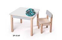 Детская стол-парта для рисования (от 1 до 6 лет, 60*60*52 cм) ТМ Вальтер-С Светлый SP10.47