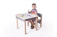Детская стол-парта для рисования (от 1 до 6 лет, 60*60*52 cм) ТМ Вальтер-С Светлый SP10.43