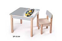 Детская стол-парта для рисования (от 1 до 6 лет, 60*60*52 cм) ТМ Вальтер-С Светлый SP10.44