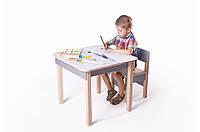 Детская стол-парта для рисования (от 1 до 6 лет, 60*60*52 cм) ТМ Вальтер-С Светлый SP10.45