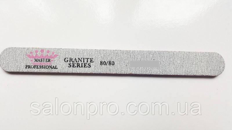 Пилка для ногтей Master Professional 120/180 Granite Series, прямая (MF-40)