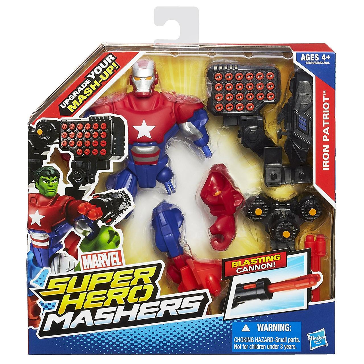Разборная фигурка супергероя Железный патриот -  Iron Patriot, Super Hero Mashers, Hasbro