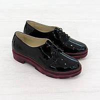 Туфли на низком ходу на шнуровке