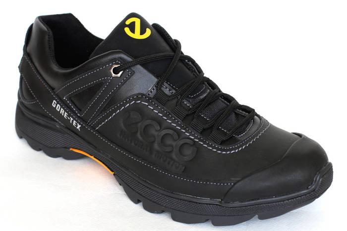 Демисезонные кроссовки из кожи  черного цвета