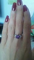 Серебряное кольцо 925 пробы фиолетовый