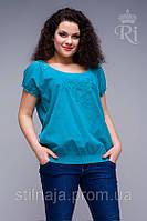 Блуза   все размеры яркие цвета резинка