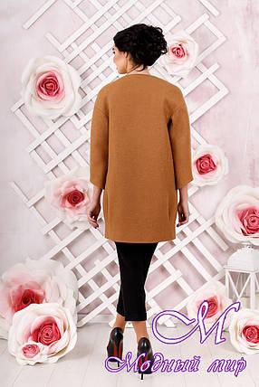 Стильное женское демисезонное пальто светло-коричневого цвета  (р. 44-54) арт. 1000 Тон 7, фото 2