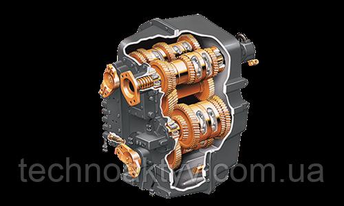 Силовая передача Плавное и надежное переключение передач.  Мосты для тяжелых режимов работы Компоненты силовой передачи продолжают традиции надежности Steiger и обеспечивают передачу высокой мощности.  Первая полная трансмиссия Steiger Powershift была установлена на трактор с приводом с двумя ведущими осями модели Panther 1000 в 1982 г. Современная трансмиссия Steiger Powershift с 16 передачами обеспечивает непревзойденное качество переключения передач за счет широтно-импульсной модуляции. Этот тип электронного управления обеспечивает мягкое переключение передач и снижает утомляемость оператора.