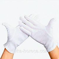 Перчатки для официантов хлопчатобумажные р.L (56L) Белые