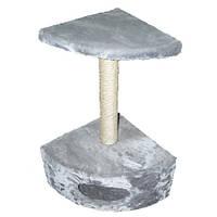 Когтеточка с домиком угловая ДРП-ДУ1 (40*40*65 см, h 70) сизаль, микс