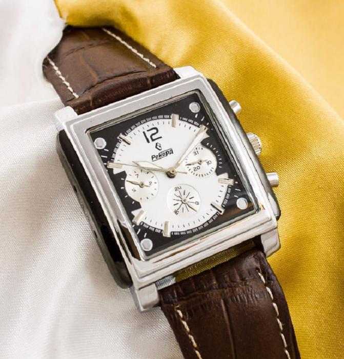 Наручные часы мужские механические рекорд цена