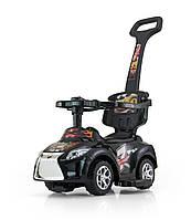 Детская  машинка-каталка Ride On Kid 3в1 черная   Milly Mally  Польша