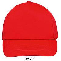 Бейсболка, кепка красная SOL'S SUNNY, Франция, 18 цветов, рекламные под нанесение логотипа