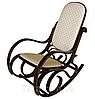Кресло качалка PBT Group  темное ткань точки