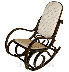 Кресло качалка темное ткань точки