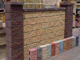 Колотый блок цвет коричневый (400х200х200)