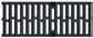 Решетка чугунная с прорезями, 0,5м. для каналов ACO V 200, Drainlock, C250