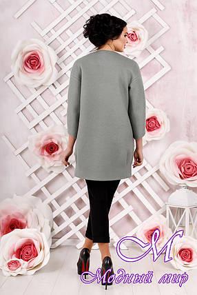 Стильное женское демисезонное пальто цвета оливка  (р. 44-54) арт. 1000 Тон 76, фото 2