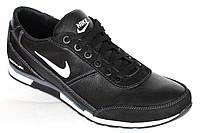 Демисезонные кроссовки из кожи Roma-Nike черного цвета