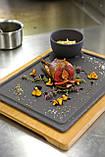 Блюдо квадратное Revol черное серия Basalt (20х20х0,7 см), фото 3