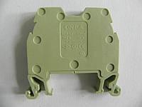 Клемма ОНКА на Дин-рейку 2,5 мм2 750В, 24А, цвет светло-зеленый.