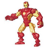 Фигурка-конструктор Железный Человек в золотой броне - Iron Man Gold Armor, Marvel, Mashers, Hasbro