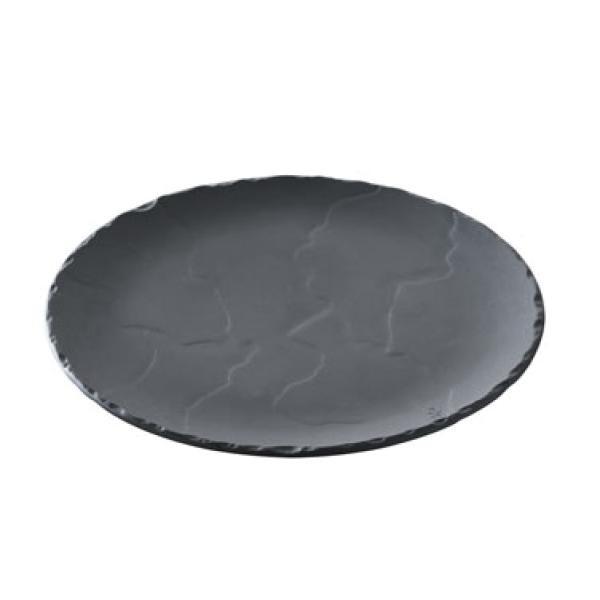 Блюдо круглое Revol черное серия Basalt (26,8 см)
