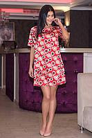Шелковое короткое платье трапеция Анна 719