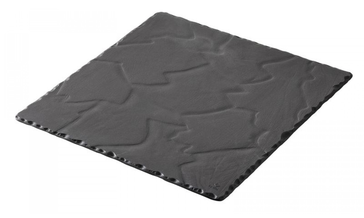 Блюдо квадратное Revol черное серия Basalt (20х20х0,7 см)