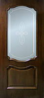 Двери Кармен стекло с рисунком шпон натуральный