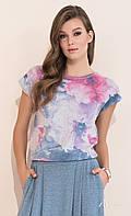 Женская летняя блузка с цветочным рисунком из легкого коттона. Модель Frezja Zaps, коллекция весна-лето 2017.