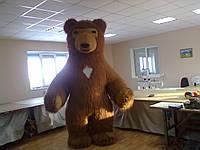 Надувной костюм Бурый медведь