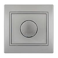 Диммер 500 Вт с фильтром и предохранителем Lezard Mira 701-1010-117 серый металлик