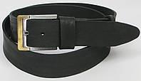 Длинный кожаный мужской ремень под джинсы DL-33132 чёрный (тёртый) ДхШ: 141х4,5 см. батал.