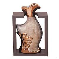 Ваза декоративна деревяна рама золото+бронза 2221