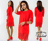Платье с перфорацией 426 Багет