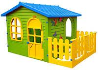 Домик для детей c забором Mochtoys 10498