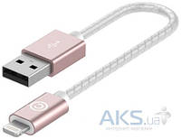 Кабель USB Lab.C Lightning Leather Cable A.L Champagne Rose Gold (0.15 m) (LABC-510-RG)