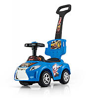 Детская  машинка-каталка Ride On Kid 3в1 голубая  Milly Mally  Польша
