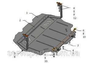 Защита двигателя Seat Altea 2004- (Сеат Алтея), фото 3